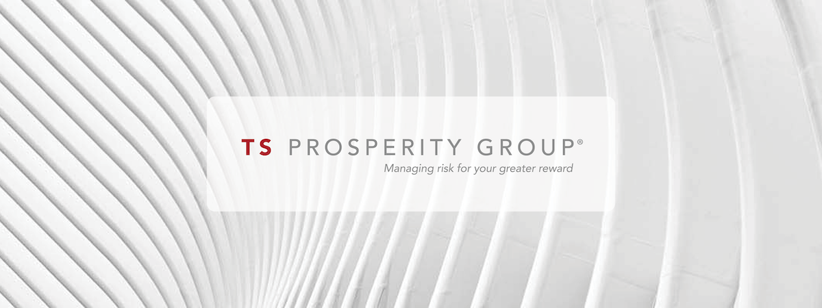 TS Prosperity Group logo with white abstract background
