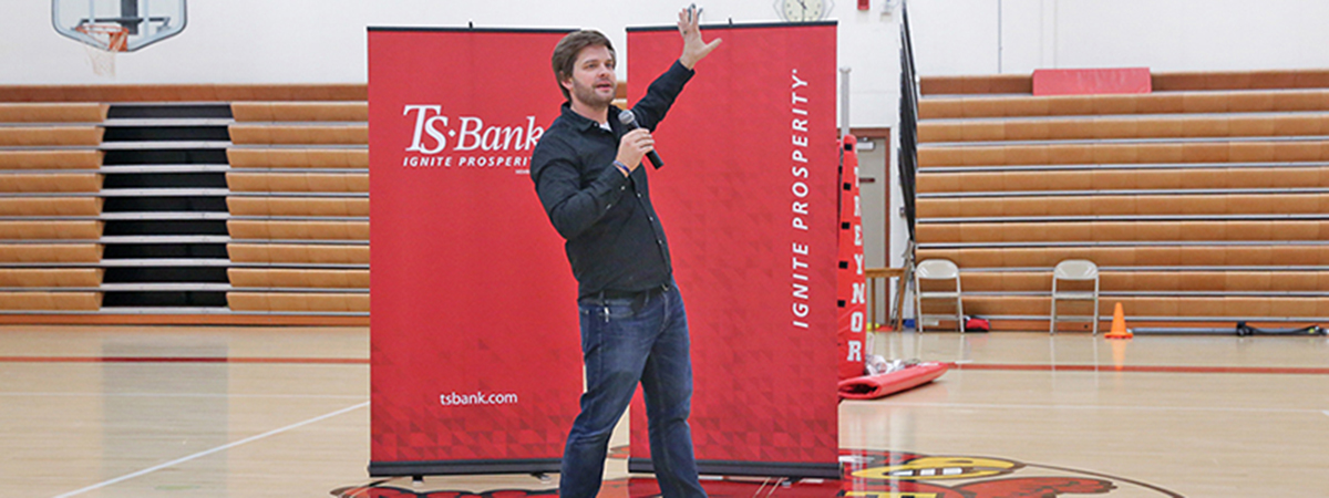 ts bank's ts promise speaker kyle scheele delivers his