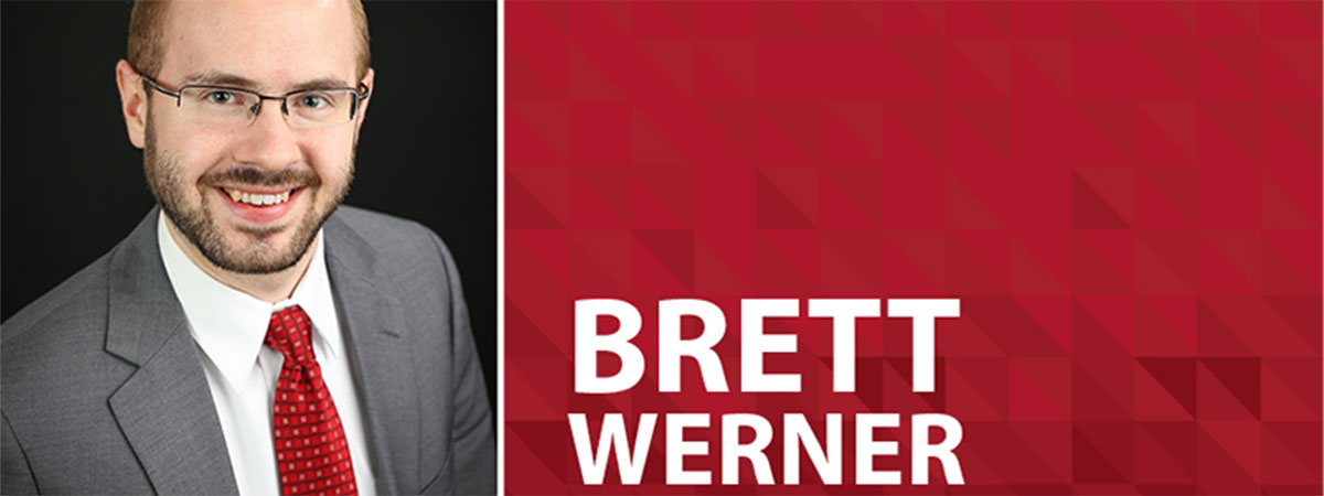 professional headshot of brett werner