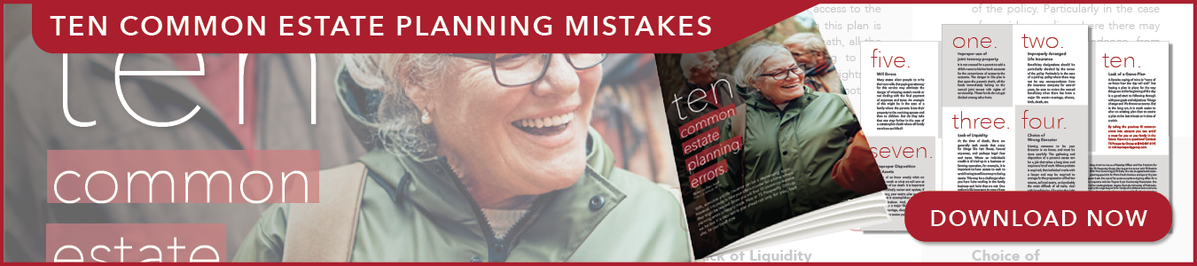 ad for ten common estate planning mistakes